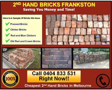 2nd Hand Bricks Frankston Supply Clinkers, Reds, Pressed, Cream and Red/Blue Used Bricks