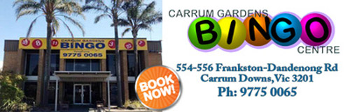 Carrum Downs Bingo Timetable