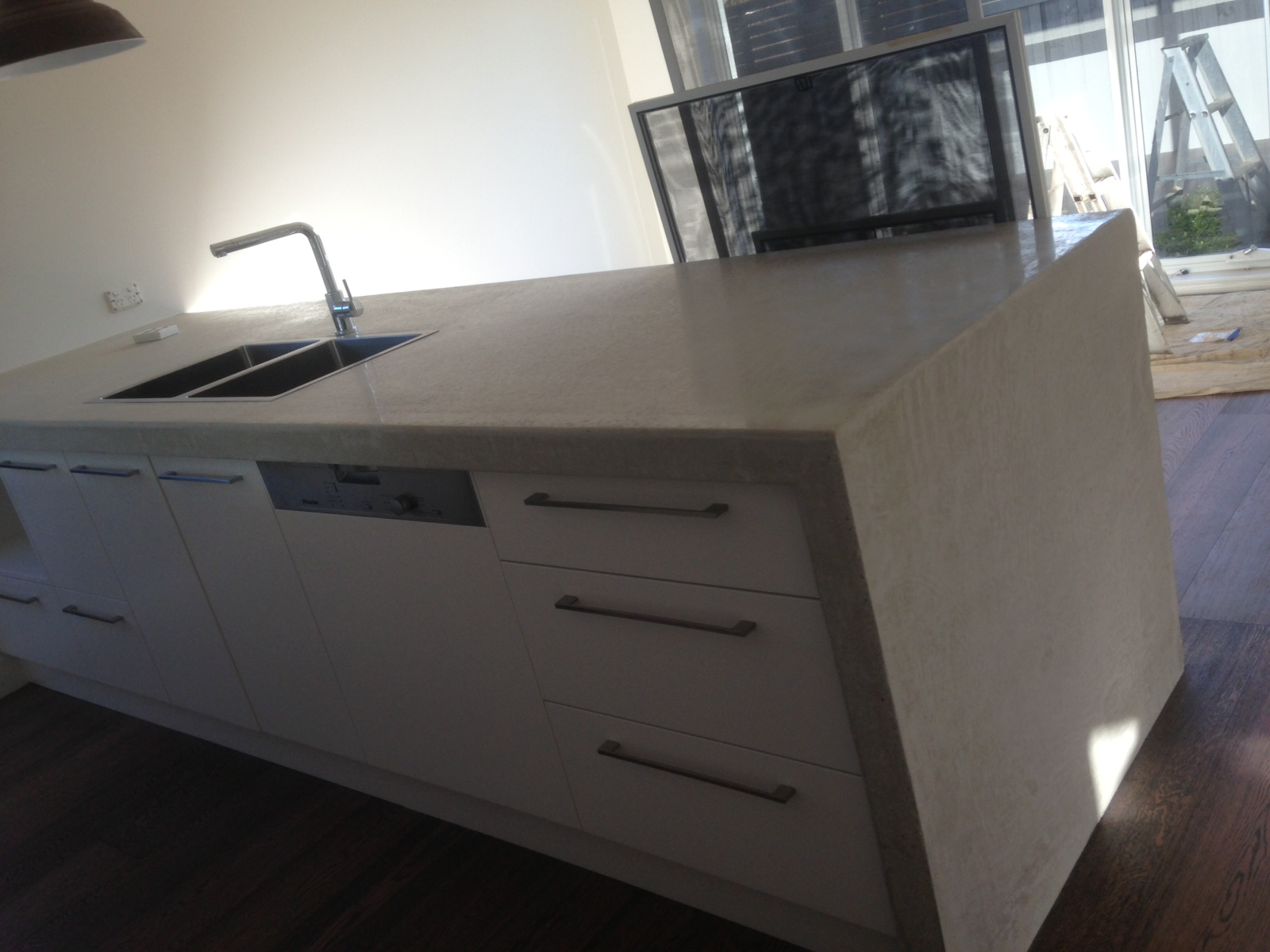 Concrete Benchtops For The Kitchen Bathroom And Outside
