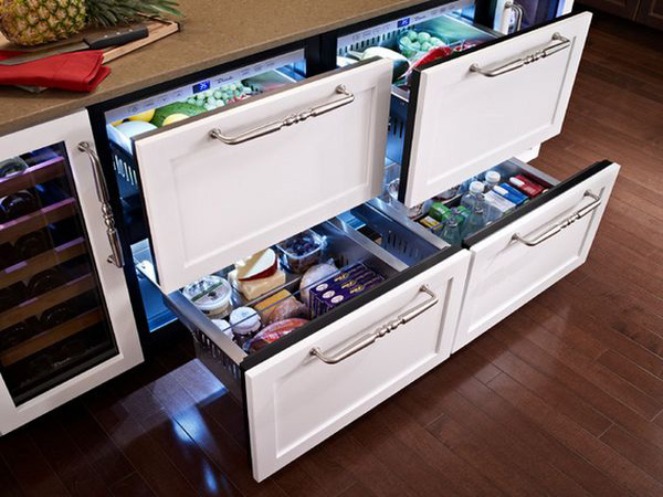 Domestic Under Bench Fridge With 4 Drawers For The Kitchen