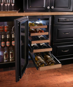 Under Counter Wine Fridge with Pull Out Drawers
